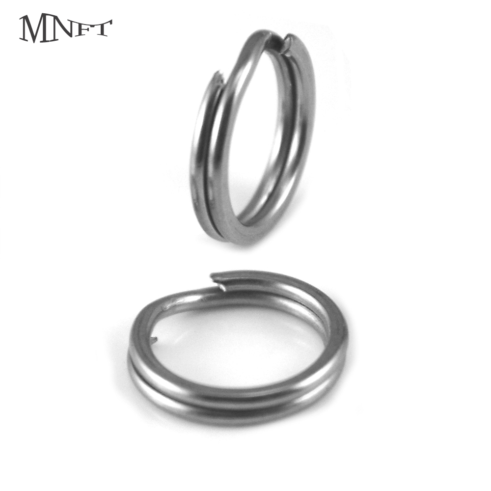 MNFT 30Pcs Stainless Steel Fishing Split Rings High Strength Heavy Duty Double Split Ring Lure Tackle Connector