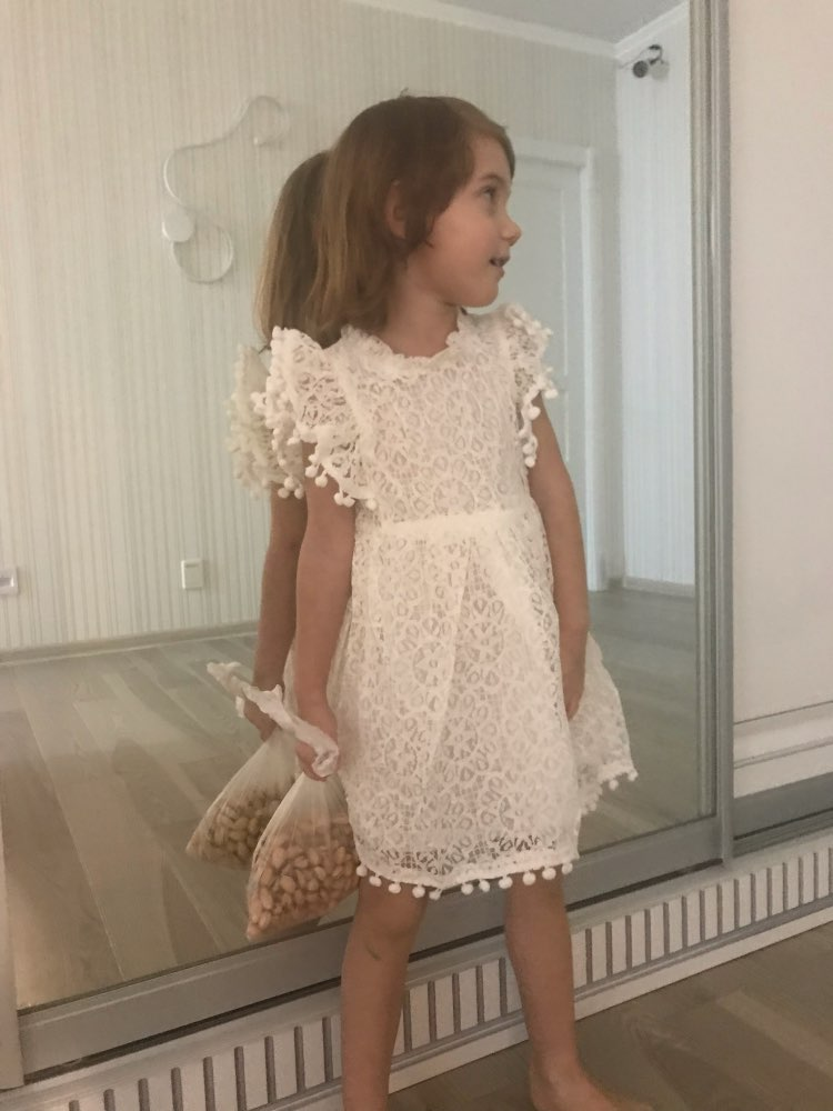 Girl's Flare Sleeved Patterned Dress photo review