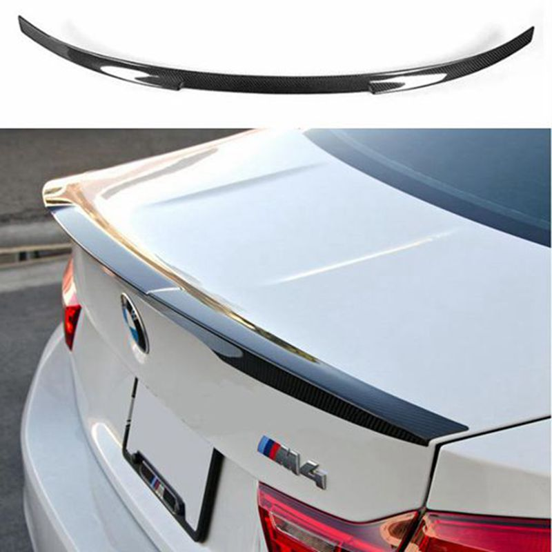 Carbon Fiber Car Racing Spoiler Lip Wing For BMW 4 series F32 428i 435i Coupe 2-Door 2014-2017 for bmw 4 series f32 coupe 420i 428i 430i 435i carbon fiber rear spoiler performance style 2014 2015 2016 2017