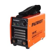 Аппарат сварочный инверторный PATRIOT 150DC MMA (Выходной ток 20-140 А, диаметр электродов 1.6-3.2 мм, мощность 4200 Вт, ПВ при макс. токе60%, работа при пониженном напряжении 140-240 В)