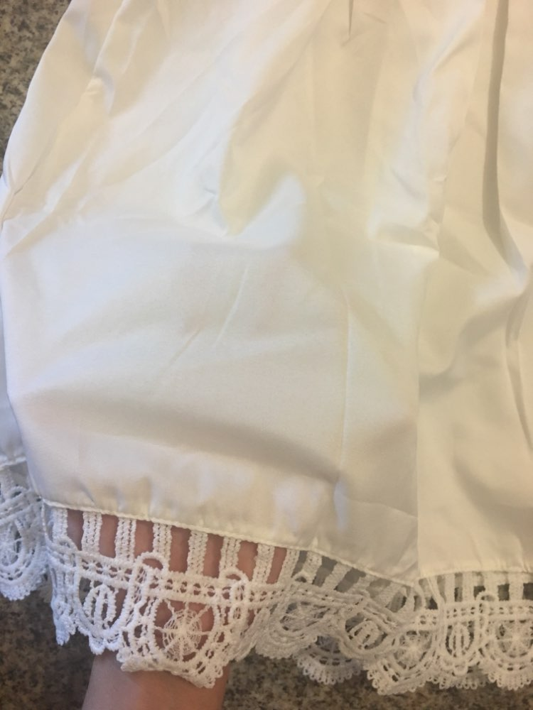 Summer New Fashion Women Elegant Stylish Sexy Slash Neck Casual Vintage Sweet Lace White Dress Slim Beach Dress photo review