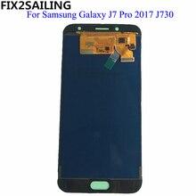 Для samsung Galaxy J7 Pro 2017 ЖК-дисплей J730 Дисплей Сенсорный экран J730F сборки Замена для samsung J7 Pro регулируемый
