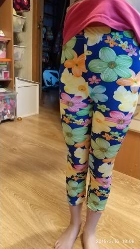 SheeCute New Arrival Hot Summer Kids  Calf Length Fashion girls leggings print flowers girls pants childrens trousers