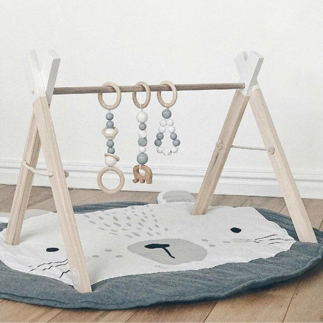 Nordic Wooden Furniture Play Gym Frame Toys