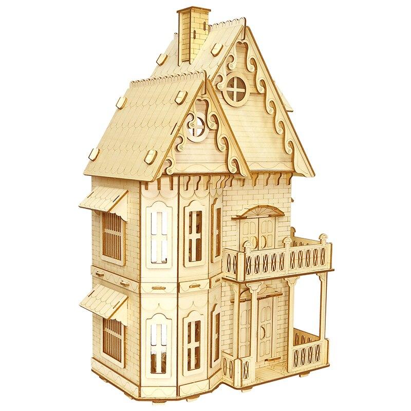 Cottage gothique ferme séjour 3D bricolage modélisation n échelle passe-temps modèle outils jugetes diorami en modèle juguetes para los ni os