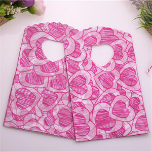 Hot Sale New Style Wholesale 50pcs/lot 9*15cm Hot Pink Lovely Heart Mini Plastic Jewelry Packaging Bags Small Gift Pouches