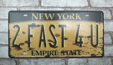 1 pc New York US Car license Empire State plaques Tin Plate Sign plate wall man cave Decoration Metal Art dropshipping Poster