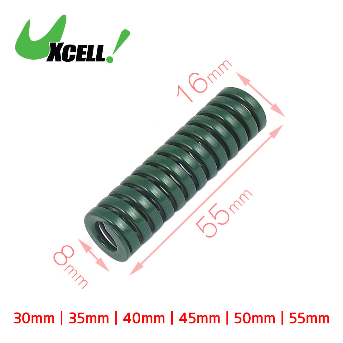 Uxcell 40mm Length Od 18mm Id 9mm Chromium Alloy Steel Heavy Load Die Spring Green 40x18x9mm