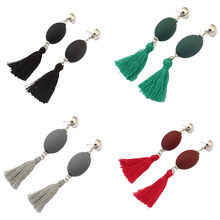 Personality Ball Tassel Earrings National Wind Long Section Women Bohemian Fashion Women Jewelry Wholesale Drop Earrings