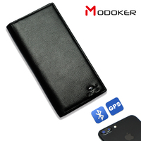 Genuine Leather Bluetooth Anti Theft Alarm Smart Phone Wallet For Men