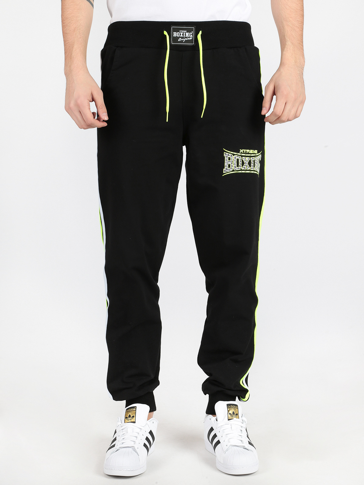 Black Sports Pants With Print