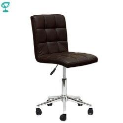 94710 Barneo N-48 Полубарный кухонный стул на колесах темно-коричневый интерьерный дизайнерский стул на колесах кресло на роликах мебель для кухни...