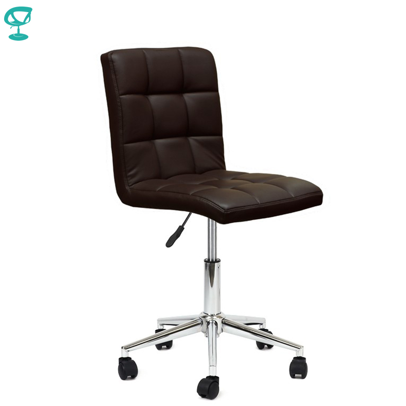 94710 Barneo N-48 Leather Roller Kitchen Chair Swivel Bar Chair Dark Brown Color Free Shipping In Russia