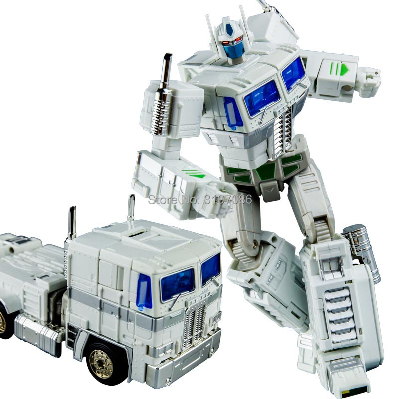 KBB Transformation White OP Commander MP10V Alloy Metal Classic Collection Voyager With Backpack Robot Action Figure