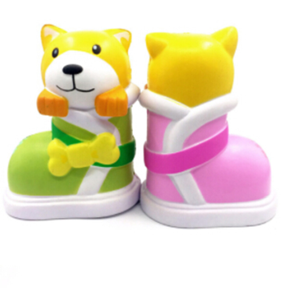 Mini Exquisite Fun Crazy Shoes Dog Scented Charm Slow Rising 8cm Simulation Kid Toy Fun Playing Toys Gift Drop Shipping
