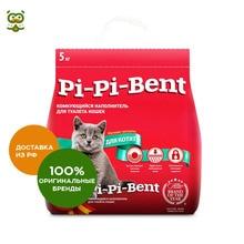 Наполнитель Pi-Pi-Bent Для котят комкующийся, 5 кг.