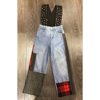 2018 Milan Runway Beads Bandage Denim jumpsuits for women Fashion Jeans rompers womens jumpsuit Summer combinaison femme