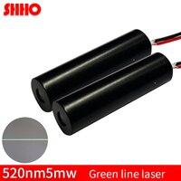 Alta qualidade 520nm 5mw linha verde módulo de laser classe industrial posicionamento localizador laser tubo transmissor laser lançador