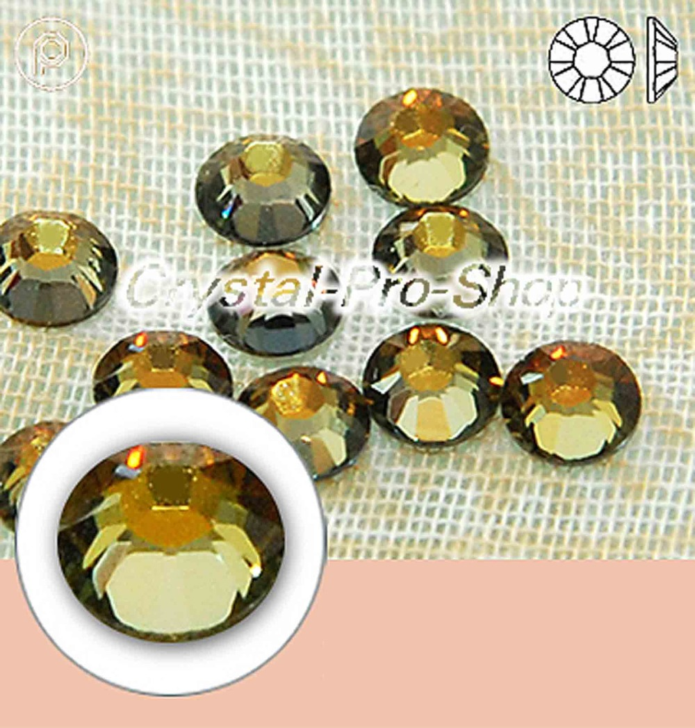 Gold,Brass Trim Hot Fix Iron on Diamante Rhinestones Premium Quality 144 GLASS