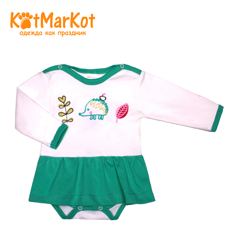Bodysuit Kotmarkot 9939 children clothing cotton for baby girls kid clothes available from 10 11 kotmarkot baby girls footiessheep white 6255