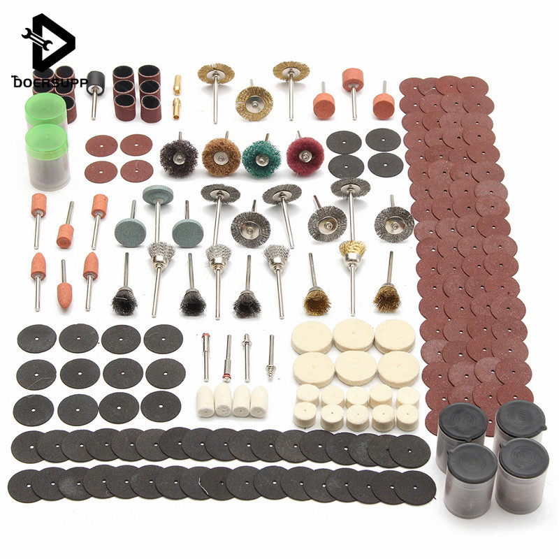 340PCS Engraving Electric Rotary Tool Wheel Accessory Set For Grinding Sanding Polishing Cutting Kit Woodworking Tool