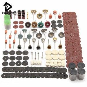 Image 1 - 340PCS חריטה חשמלי רוטרי כלי גלגל אבזר סט לטחינת מלטש ליטוש חיתוך ערכת נגרות כלי