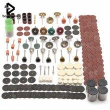 Herramienta de rueda giratoria eléctrica de grabado, juego de accesorios para lijado, lijado, corte, herramienta de carpintería, 340 Uds.