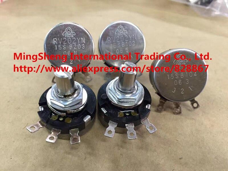 Original new 100% RV202YN 15S B302 B103 B104 B203 single potentiometer (SWITCH) tokyo ceramic potentiometer gf201 15s b500r europe b20k