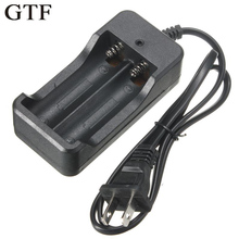 Universal US Plug Input 110V-240V Output 4.2V 0.8A Dual 18650 battery charger For 2x Rechargeable Li-Ion Battery