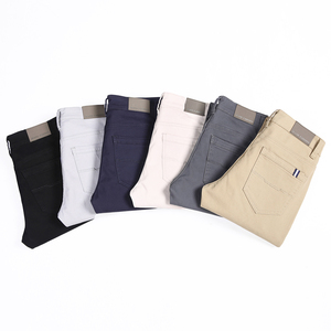 Image 3 - 6 Color Casual Pants Men 2020 Spring New Business Fashion Casual Elastic Straigh Trousers Male Brand Gray White Khaki Navy