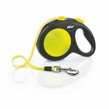 Поводок - рулетка Flexi для собак Neon New Classic L (до 50 кг), лента, 5 м.