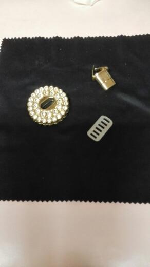 THINKTHENDO Gold Rhinestone Metal DIY Clasp Turn Twist Lock For Women Handbag Shoulder Bag Purse photo review