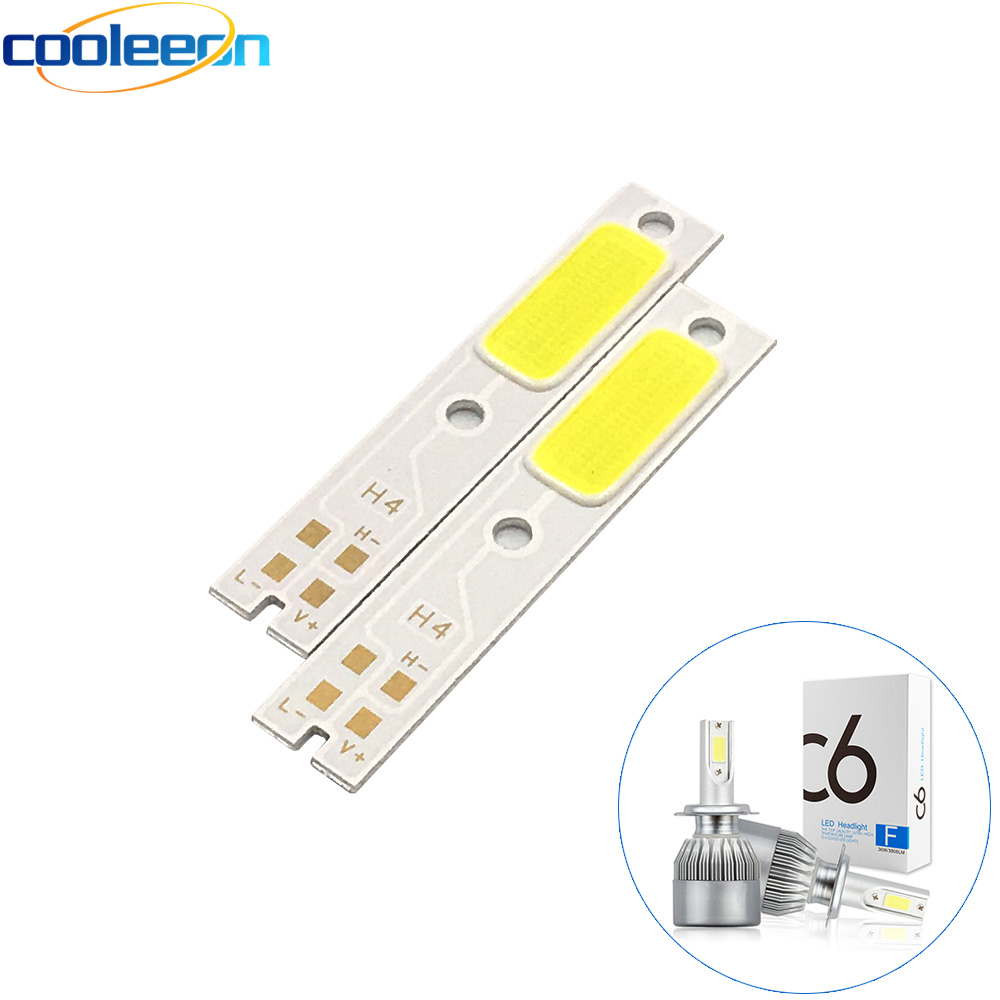 Realistic 2pcs/lot C6 Car Headlight Bulb Cob Led Light Source H1 H3 H4 H7 H11 9004 9005 9006 9012 880 Auto Headlamp Cob Lamp Chip On Board