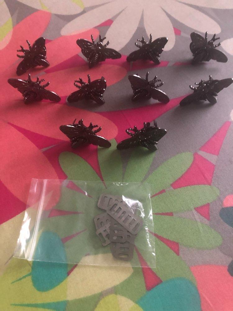 (10 stuks / partij) Bagage Handtas Bee Vorm Decoratie Schroef Lock DIY Hardware Accessoires photo review