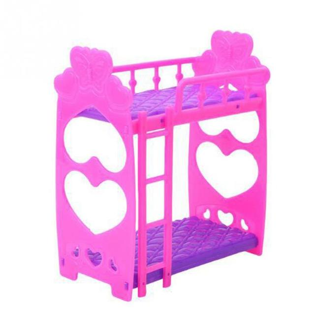 Hot Sell Doll Accessories Plastic Double Bed Frame For Baby Doll