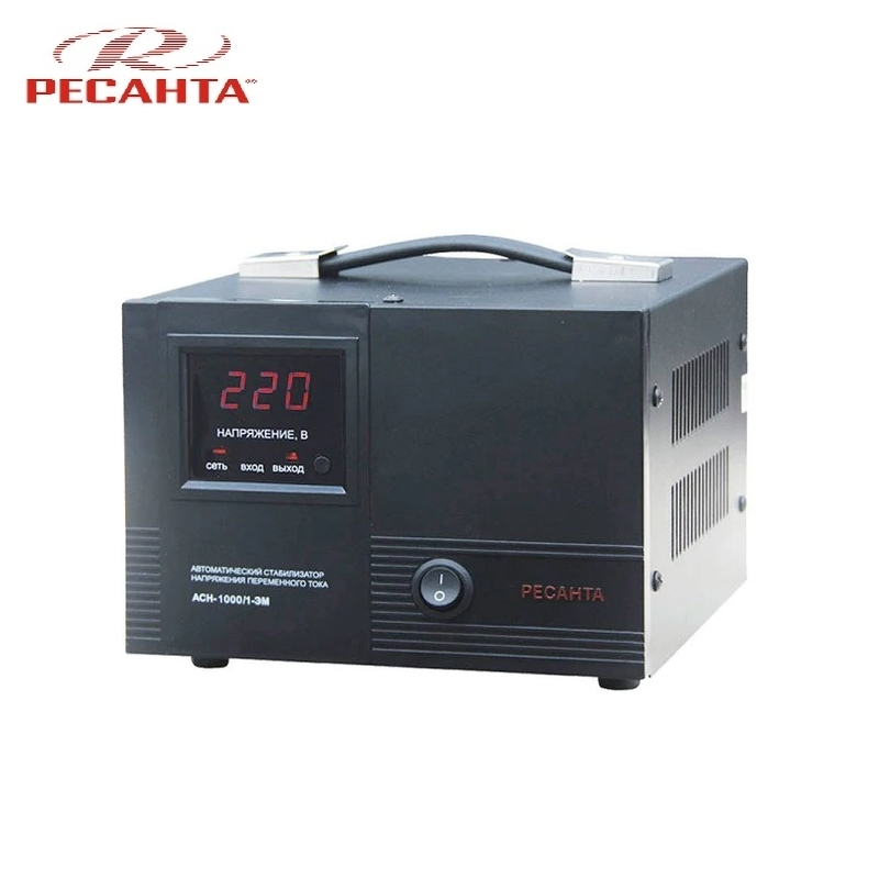 Single phase voltage stabilizer RESANTA ASN 1000/1 EM Voltage regulator Monophase Mains stabilizer Surge protect Power stab single phase voltage stabilizer resanta asn 500 1 em voltage regulator monophase mains stabilizer surge protect power stab