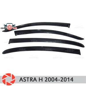 Deflector de ventana para Opel Astra H 2004-2014, deflector de lluvia, accesorios de decoración de estilo de coche, moldura