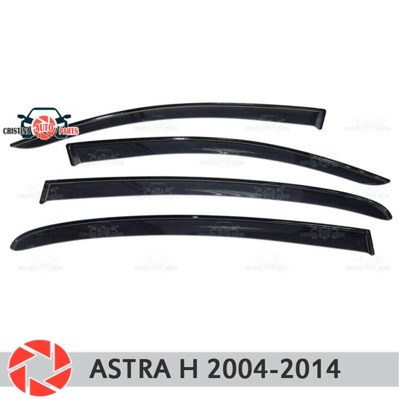 Window deflector for Opel Astra H 2004-2014 rain deflector dirt protection car styling decoration accessories molding for opel astra h 2004 2014 car armrest with inner storage box black color poah56