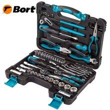 Набор ручного инструмента BORT BTK-65 (65 предметов из CRV стали, кейс в комплекте)