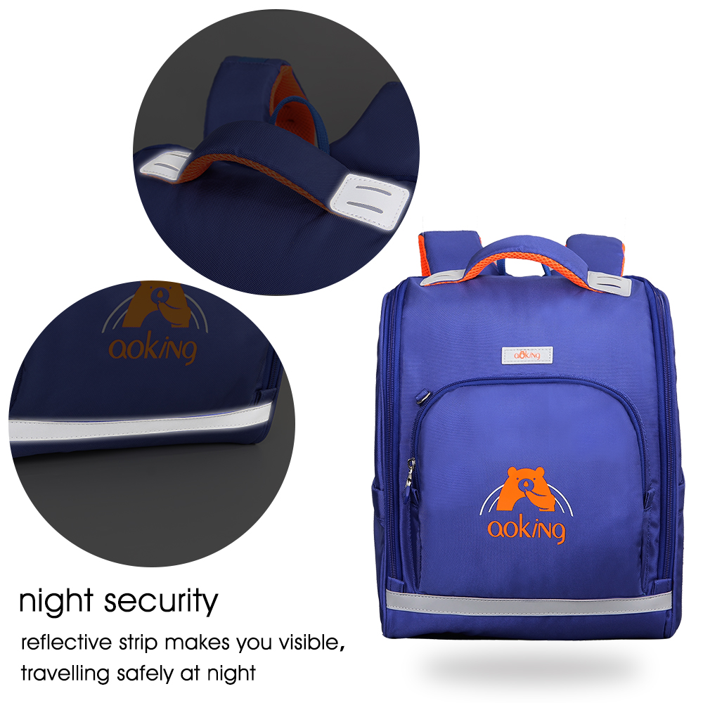 Aoking Вышивка печати с светоотражающие полосы подростков школьный рюкзак легкий для отдыха нейлон Водонепроницаемый рюкзак