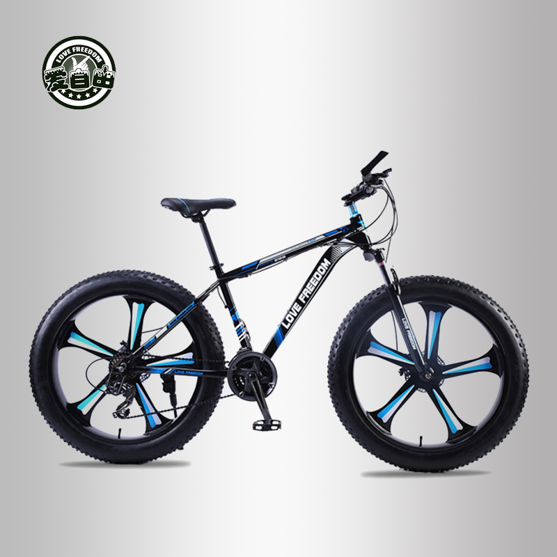 Love Freedom top qualité 7/24/27 vitesse 26*4.0 gros vélo cadre en aluminium VTT choc Suspension fourche bicicleta neige vélo