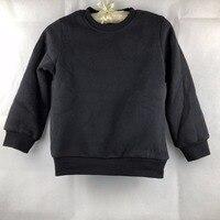 Winter Meisjes Jongens Sweatshirts Kinderen Fluwelen Tee Shirt Baby Jongens Tops GW206 kan customised