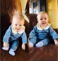 Auro Mesa appena nato vestiti del bambino Infantile Del Bambino di Colore Rosa Blu Maglia Del Pagliaccetto di inverno di abbigliamento bambino vestito del bambino