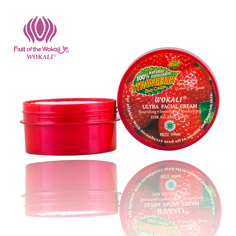 WOKALI Woman Body Cream Underarm Deodorant Care Private Part Whitening Lip Balm Charming Fragrance Strawberry Aroma