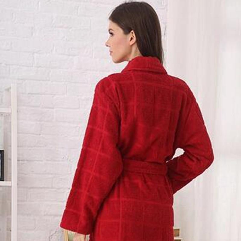 6c14a1db620c1 Coton peignoir femmes hommes pyjamas polaire épaissir long hiver chaud  chemise de nuit robe ensembles princesse accueil hôtel rouge bleu dans  Robes de ...
