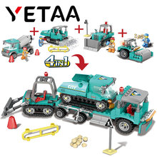 YETAA 462 Pieces Legofigure Construction Vehicle Building Blocks Toys For Children Bricks Gifts Bricks Minecraft Building Blocks(China)