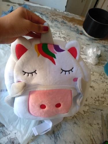 3D Cartoon Unicorn Backpack Kindergarten Schoolbag photo review