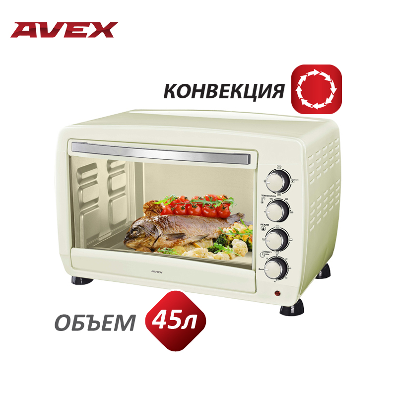 Mini Electric oven with convection AVEX TR 450YCL