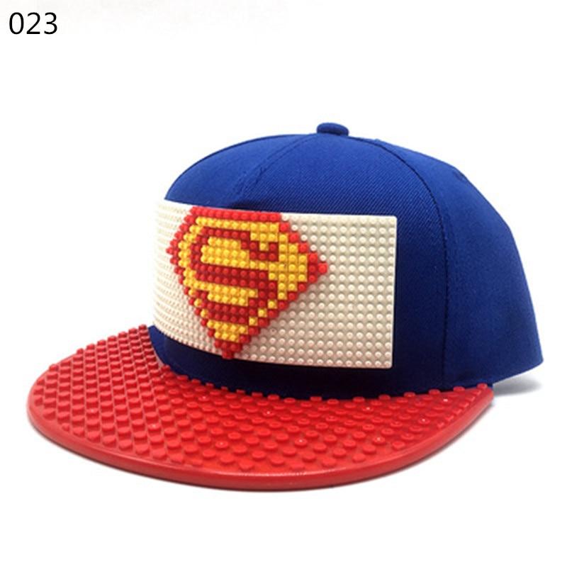 New Puzzle Games Blocks DIY Legos Baseball Hat Bob Marley Hats ... 11f95470447
