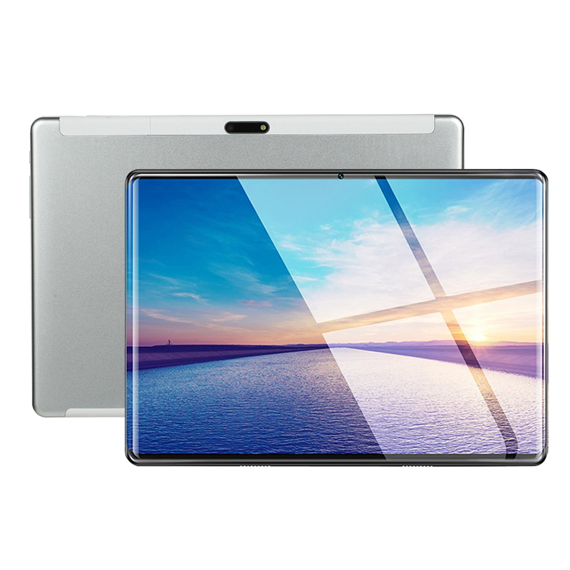 Prata mais android 9 10.1 tela da tabuleta mutlti toque android 9.0 octa núcleo ram 6 gb rom 64 gb câmera 5mp wifi 10 polegada tablet pc